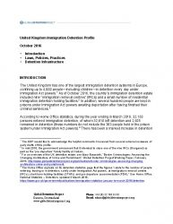 United Kingdom Immigration Detention Profile | Global Detention