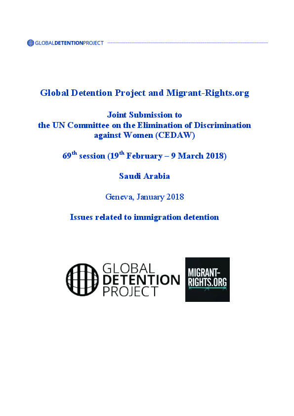 Saudi Arabia Immigration Detention Profile | Global Detention
