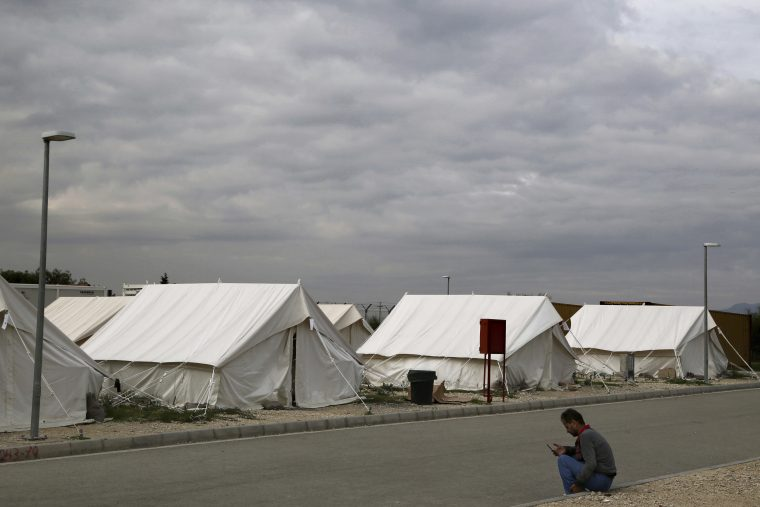 KOKKINOTRIMITHIA RESCUE CAMP (Photo Credit: AP, Cyprus: 31 Syrians who Arrived by Boat to Seek Asylum, 8 January 2019, https://www.thenationalherald.com/226083/cyprus-31-syrians-who-arrived-by-boat-to-seek-asylum/