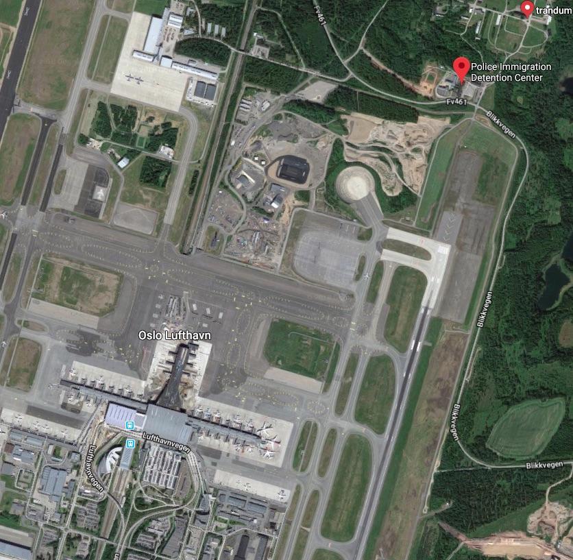 Trandum satellite view (Google Maps 2018, https://bit.ly/2IJvnKw)